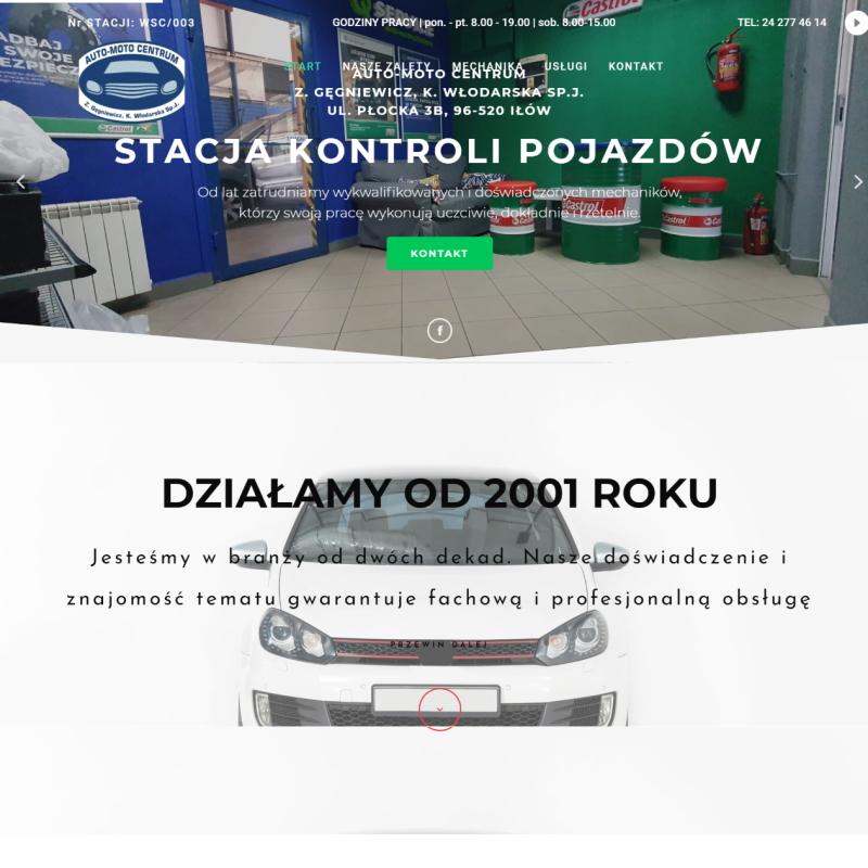Strona stacji obsługi pojazdów