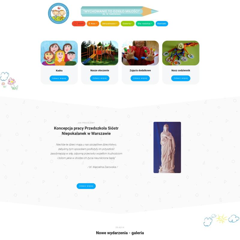 Strona Przedszkole Ursynów