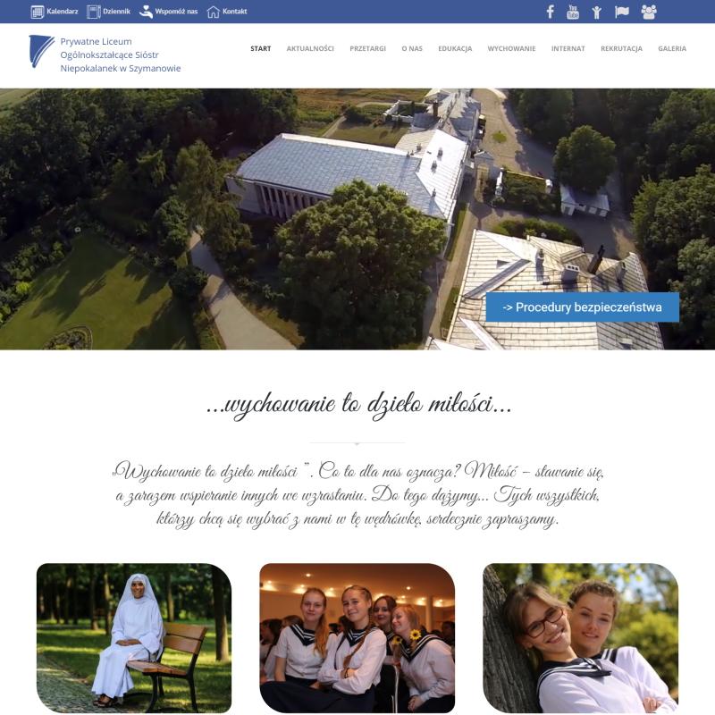 Strona Liceum w Szymanowie